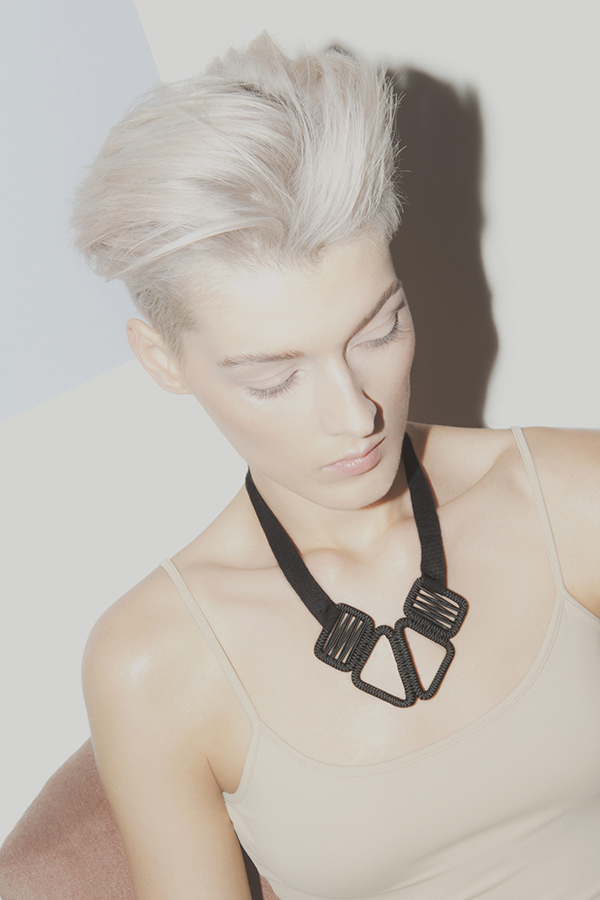 designer jewelry woven necklace