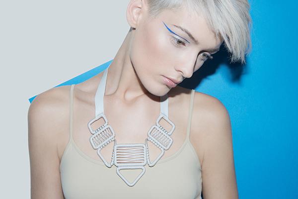 designer jewelry statement woven necklace