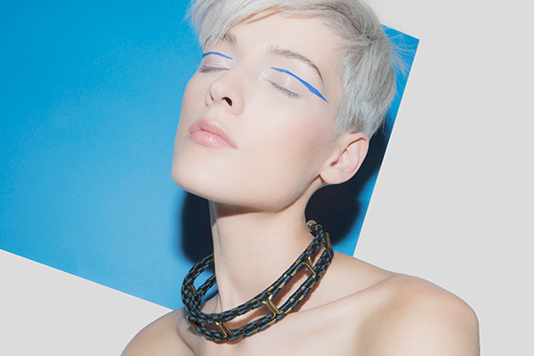desgner jewelry textile chocker necklace