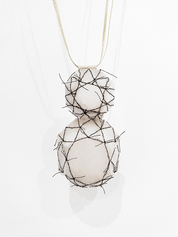 contemporary jewellery embroidered necklace