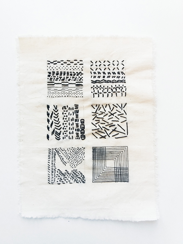 contemporary embroidery study piece