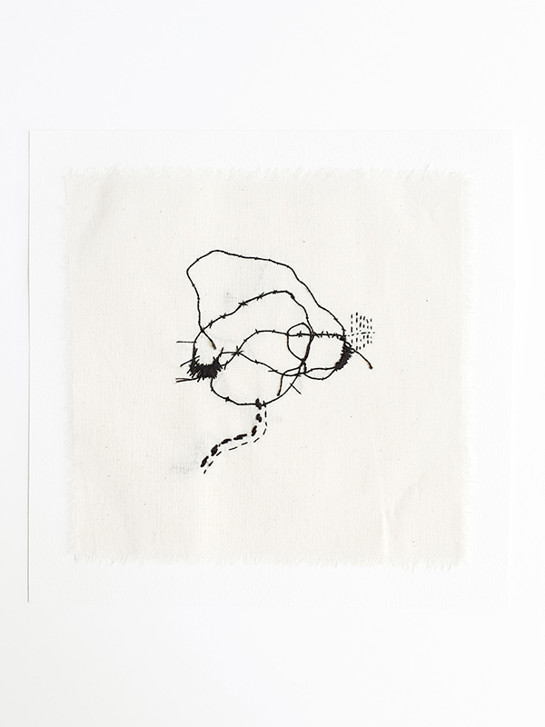 intuitive abstract contemporary embroidery