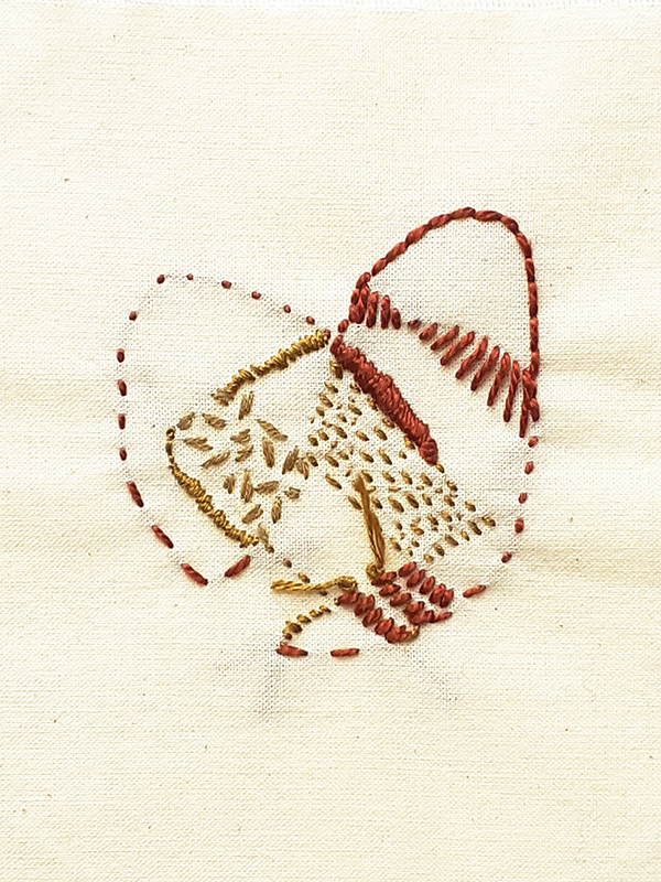 intuitive abstract embroidery