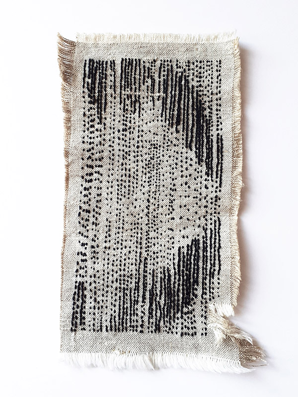 intuitive abstract contemporary embroidery emotional diary
