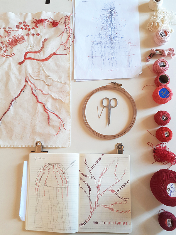 contemporary embroidery installation researches