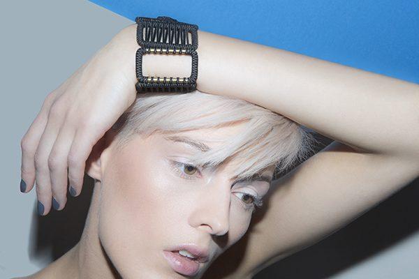 designer jewelry woven cuff
