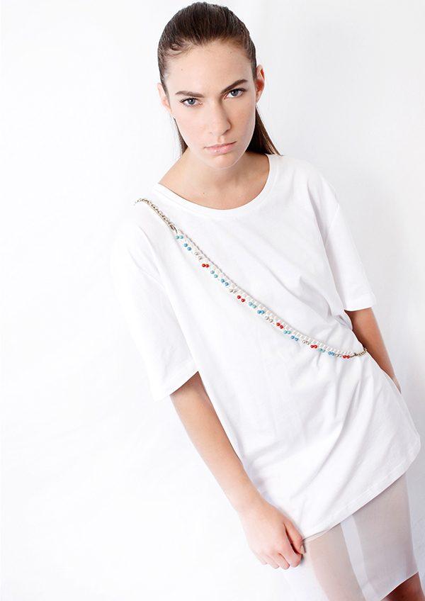designer jewelry crossbody braided necklace