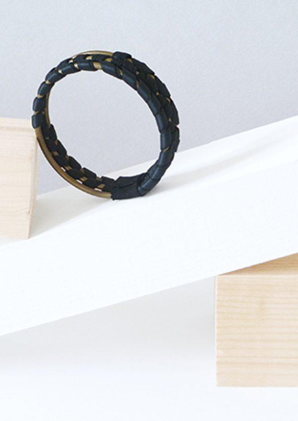 designer jewelry large textile bracelet