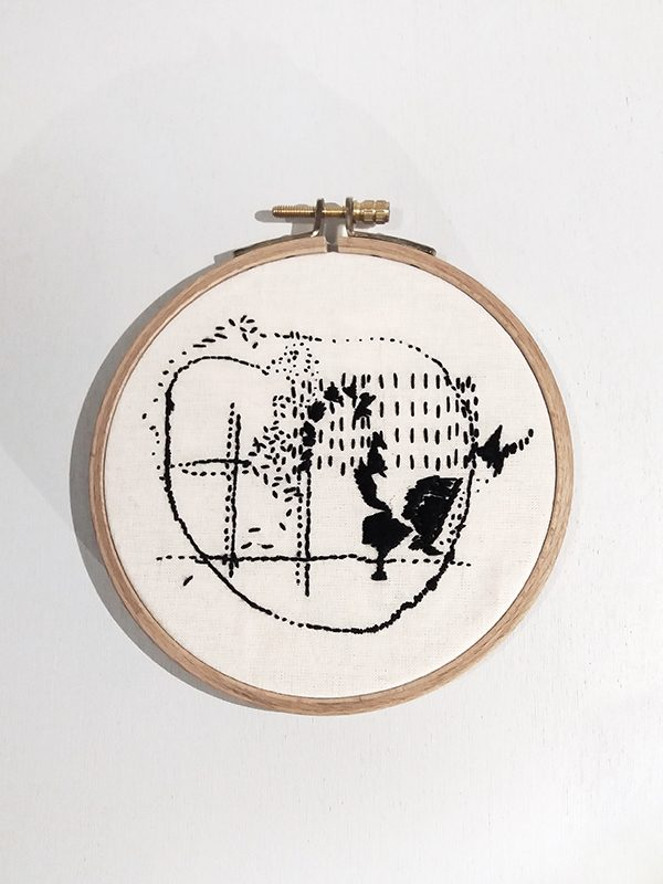 textile art contemporary intuitive hand embroidery